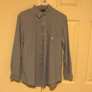Chaps Shirts - Chaps blue button down long sleeve shirt collared